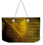 Black And Yellow Abstract I Weekender Tote Bag