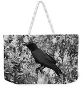 Black As The Night Weekender Tote Bag