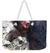 Black Bear Bloodied Lunch Weekender Tote Bag