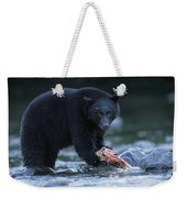 Black Bear With Salmon Carcass Weekender Tote Bag