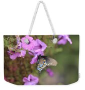 Black Blue And Orange Butterfly V3  Weekender Tote Bag