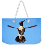 Black-chinned Hummingbird Flying Weekender Tote Bag