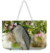 Black Crown In The Flowers Weekender Tote Bag