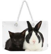 Black Kitten Dutch Rabbit Weekender Tote Bag