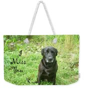 Black Lab Miss You Weekender Tote Bag