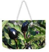 Black Olive Pepper Weekender Tote Bag