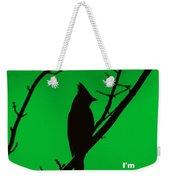 Black  On Green Weekender Tote Bag