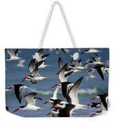 Black Skimmers Flock Weekender Tote Bag by Clarence Holmes