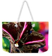 Black Spider Petunia Weekender Tote Bag