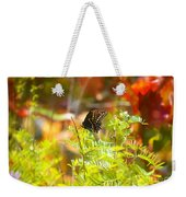 Black Swallow Tail Butterfly In Autumn Colors Weekender Tote Bag