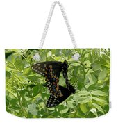 Black Swallowtails Mating Weekender Tote Bag