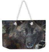 Black Timber Wolf Weekender Tote Bag
