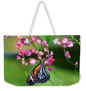 Black Veined Tiger Butterfly Weekender Tote Bag