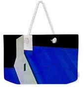 Black White And Blue Weekender Tote Bag