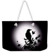 Blackbird In Silhouette  Weekender Tote Bag by David Dehner