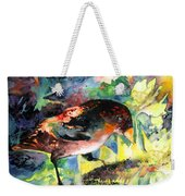 Blackbird With Sunflower Weekender Tote Bag