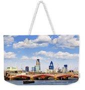 Blackfriars Bridge With London Skyline Weekender Tote Bag