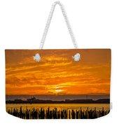 Blazing Humboldt Bay Sunset Weekender Tote Bag