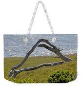 Bleached Wood And Diamond Waves Weekender Tote Bag