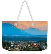Bled City And Breg. Slovenia Weekender Tote Bag