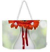 Bleeding Gerbera Weekender Tote Bag