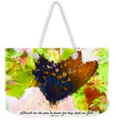Blessed Are The Pure In Heart Weekender Tote Bag
