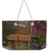 Blind Georges And Laughing Clam On G Street In Grants Pass Weekender Tote Bag by Mick Anderson