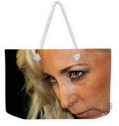 Blond Woman Strict Weekender Tote Bag
