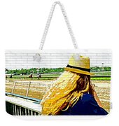 Blonde At Racetrack Weekender Tote Bag