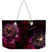 Blood Red Anemones Weekender Tote Bag