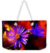Blooming Asters Weekender Tote Bag