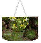 Blooming Succulents Weekender Tote Bag
