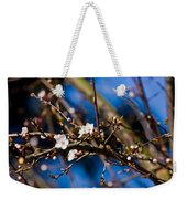 Blooming Tree With White Flowers Weekender Tote Bag