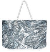 Blue Abstract Art Weekender Tote Bag