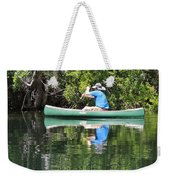 Blue Amongst The Greens - Canoeing On The St. Marks Weekender Tote Bag