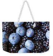 Blue And Black Berries Weekender Tote Bag