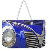 Blue And Chrome Nose Weekender Tote Bag