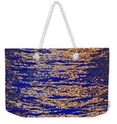 Blue And Gold Weekender Tote Bag
