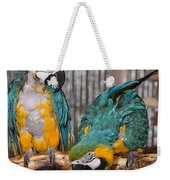 Blue And Gold Macaw Pair Weekender Tote Bag