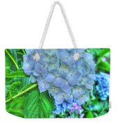 Blue And Green Flora Weekender Tote Bag