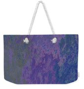 Blue And Purple Stone Abstract Weekender Tote Bag