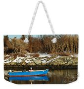Blue And Red Boat Weekender Tote Bag