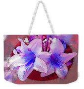 Blue And Red Weigela Window Weekender Tote Bag