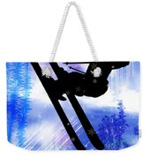 Blue And White Splashes With Ski Jump Weekender Tote Bag