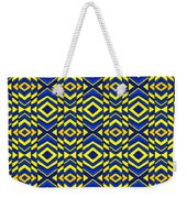 Blue And Yellow Chevron Pattern Weekender Tote Bag