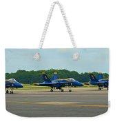 Blue Angels On Tarmac Weekender Tote Bag