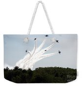 Blue Angels Star Burst Weekender Tote Bag
