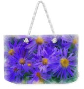 Blue Asters - Watercolor Weekender Tote Bag