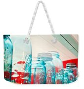 Blue Ball Canning Jars Weekender Tote Bag