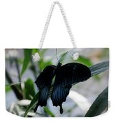 Blue-black Butterfly Weekender Tote Bag